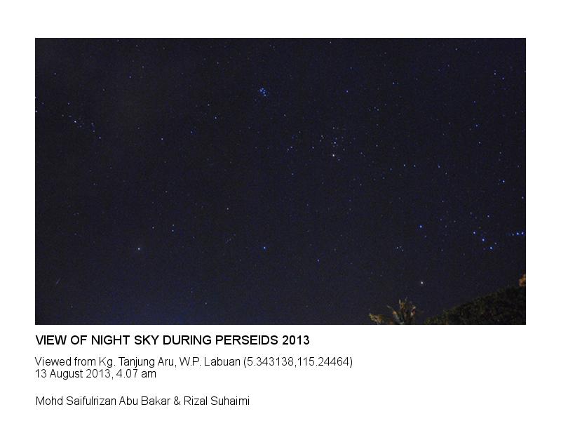 Night Sky Perseids 2013